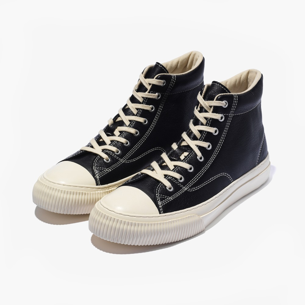 MILLITARY LEATHER HIGH _ BLACK